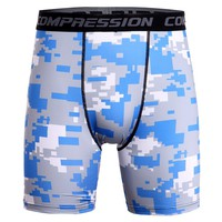Hot Sale Fitness 3D Camouflage Compression Shorts Men 2017 Skinny Base Layer Shorts Crossfit Bodybuilding Camo Short Pants