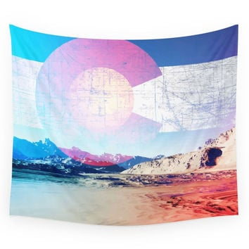 Society6 COLORADO DAY Wall Tapestry