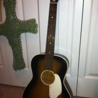 Vintage fender acoustic guitar unibar reinforced neck made in USA  1950's or 60's harmony