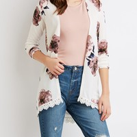 Floral Open-Front Duster Cardigan | Charlotte Russe