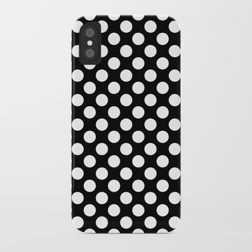 White Polka Dots with Black Background by CoolFunAwesomeTime