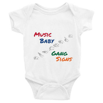 Music Baby Gang Signs, music baby clothes, music baby Onesuits, music baby Onesuits, music baby shirt,