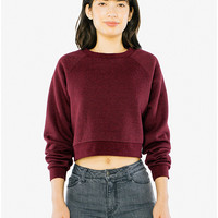 Mock Twist Cropped Pullover   American Apparel