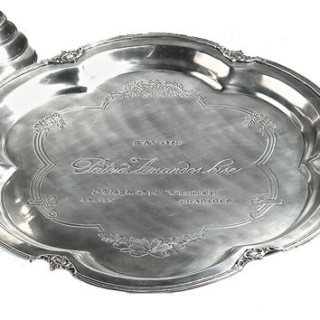 Dessau Home Antique Silver Etched French Tray - S683