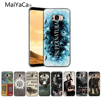 MaiYaCa Supernatural TV Painted cover Style Design Cell Phone Case For Samsung Note 3 4 5 6 7 8 S6 Edge Mobile phone cover