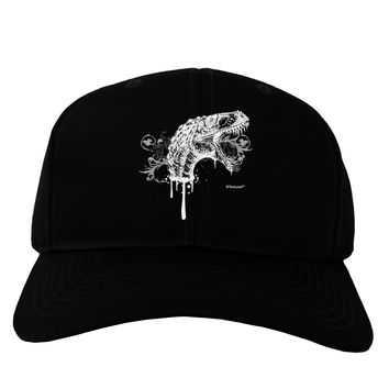 Artistic Ink Style Dinosaur Head Design Adult Dark Baseball Cap Hat by TooLoud