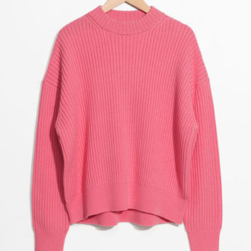 Oversized Straight Sweater - Pink - Sweaters - & Other Stories US