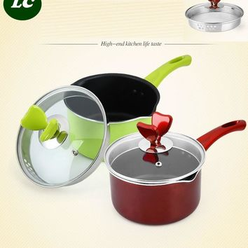 free shipping SS#304 inox saucepan casserole inox stew pot soup milk pot 16CM MINI  stainless steel cooking pot kitchen utensil