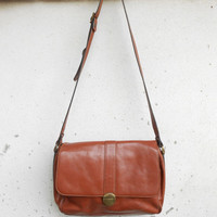 Vintage FRANCINEL PARIS Leather Messenger Bag , Crossbody Bag / Medium / Made in France