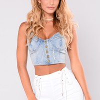 McGuire Denim Crop Top - Light Denim
