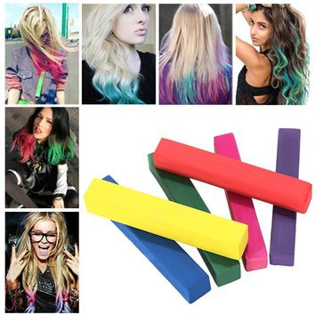 6 colors DIY non-toxic temporary hair color chalk AS SEEN ON TV.