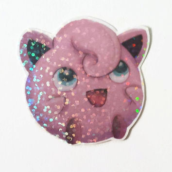Sparkly JigglyPuff Sticker - Small