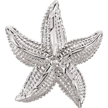 "Sterling Silver 1"" Starfish Pendant"