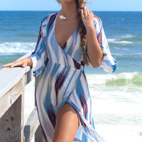 Guava Wrap Slit Maxi Dress