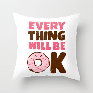 Sweet Relief Throw Pillow by MidnightCoffee