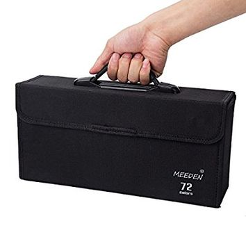 MEEDEN 72 Piece Markers Carrying Case Empty Holder for Copic Prismacolor Touch Spectrum Noir Paint Markers