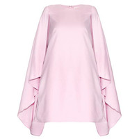 Pink Cape Asymmetrical Chiffon Dress