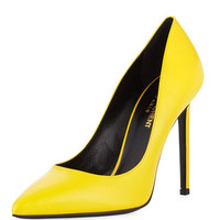 Paris Leather 105mm Pump, New Jaune