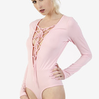 Etheline Lace Up Leotard by Echo Club House
