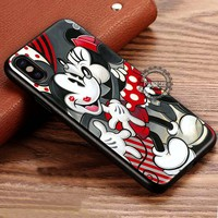 Romantic Couple Kissing Mickey Mouse iPhone X 8 7 Plus 6s Cases Samsung Galaxy S8 Plus S7 edge NOTE 8 Covers #iphoneX #SamsungS8