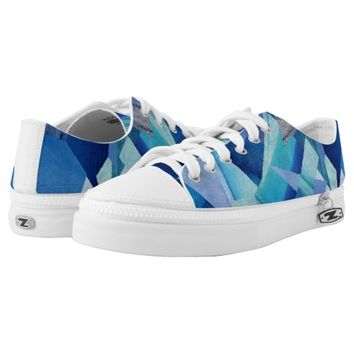 dark and light blue Low-Top sneakers