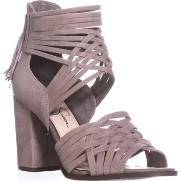 Jessica Simpson Reilynn Braided D'Orsay Sandals, Warm Taupe, 10 US / 40 EU