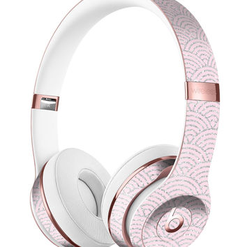 Pink and Silver Semicircles Full-Body Skin Kit for the Beats by Dre Solo 3 Wireless Headphones