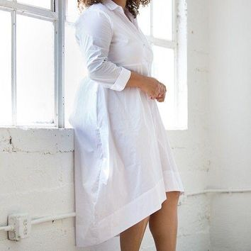 Morocco Plus Size Shirttail Dress
