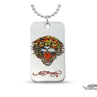 Ed Hardy® Tiger Dog Tag Necklace