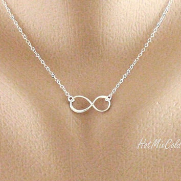 Infinity necklace Sterling silver Infinity Jewelry by hotmixcold