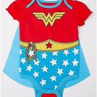Caped Wonder Woman Baby Bodysuit - DC Comics - Spencer's