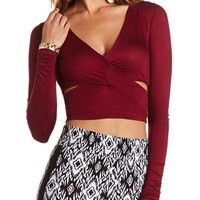 CUTOUT FRONT CROP TOP