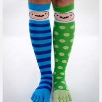 Adventure Time Finn Toe Knee High Socks