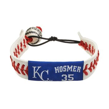 GameWear Kansas City Royals Eric Hosmer Leather Baseball Bracelet