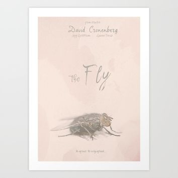 The Fly - Movie poster from David Cronenberg's classic horror film with Jeff Goldblum Art Print by Stefanoreves