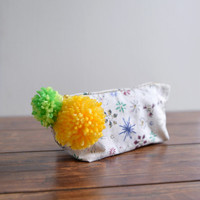 Summer Beach makeup bag - firework pattern cosmetic bag
