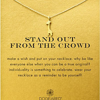 """Dogeared """"Stand Out From The Crowd"""" Giraffe Necklace, Gold Dipped 16"""""""