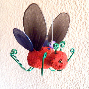Woodland Nursery Decor, Woodland Animals Baby Shower Decorations, Woodland Ornaments, Wonderland Butterfly Mobile Woodland Creatures