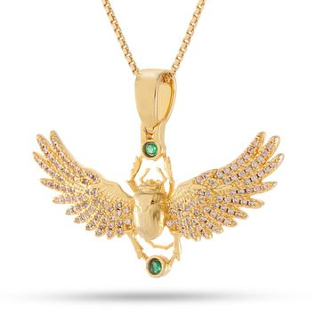 The Winged Scarab Necklace (.925 Sterling Silver)