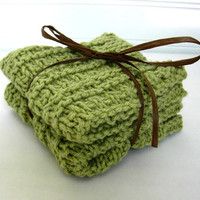 Organic Cotton Washcloths by WindyCityKnits on Etsy