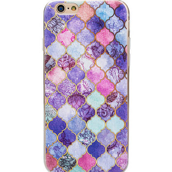 Cool Marble phone cases for iphone 7 5 5s 6 6s 6 plus 6s plus Soft Slim Oil Painting Cover+Gift Box