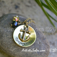 Navy Love Custom Necklace by Artistic Soles