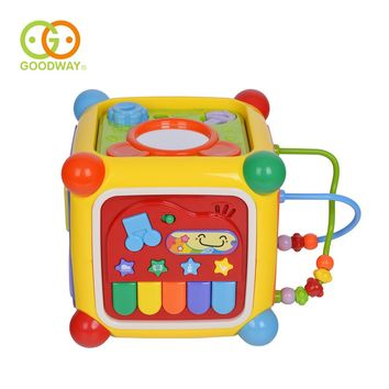 GOODWAY Toys Baby Toy Musical Activity Cube Play Center Toy with Piano 6 Functions & Skills Learning Educational Toys for Kids