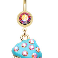 Sweet Frosted Cupcake Belly Button Ring