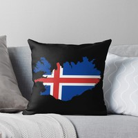 'ICELAND-2' Throw Pillow by planetterra