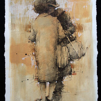 Andre Kohn Fresh News at the Market [Andre Kohn_A7174] - $99.00 oil painting for sale|Wonderful artwork|Buy it at once.