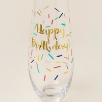 Happy Birthday Confetti Stemless Champagne Glass