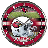 Arizona Cardinals NFL Chrome Round Clock