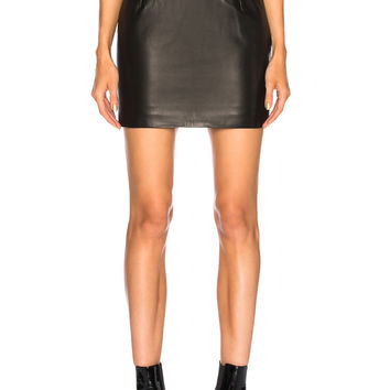 Alexandre Vauthier Leather Mini Skirt in Black | FWRD