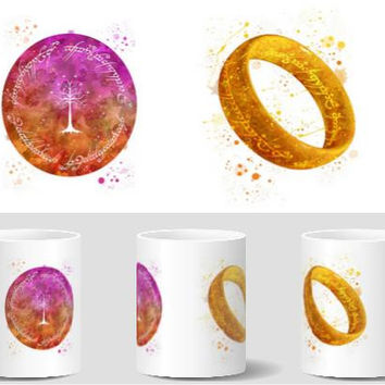 the lord of the rings mugs hobbit Tea Cup cold hot heat reveal coffee mug cold hot sensitive cup heat changing color cups